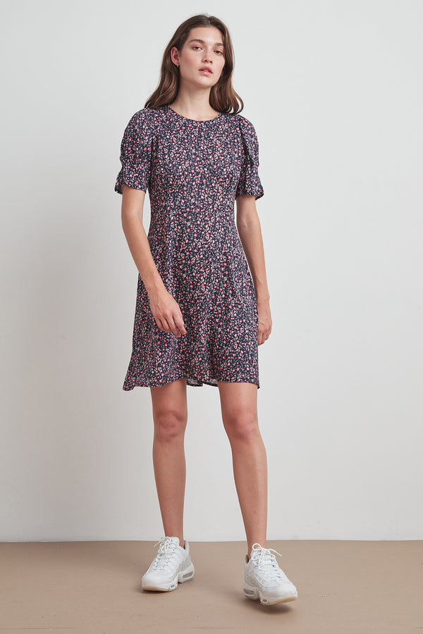CHARLIE PRINTED CHALLIS DRESS