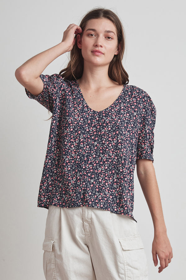 DAWN PRINTED CHALLIS BLOUSE