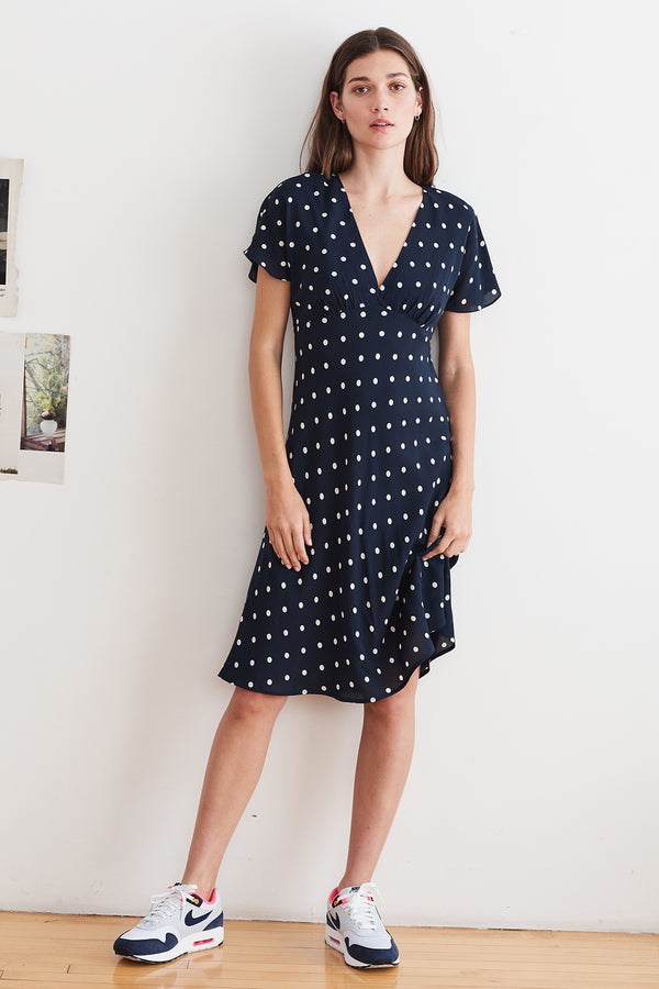 JUNA PRINTED CHALLIS DRESS