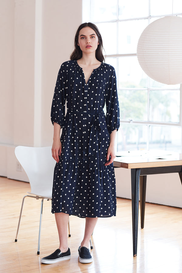 MADDY CHALLIS POLKA DOT DRESS