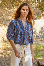 JUDE PRINTED VOILE BUTTON-UP BLOUSE