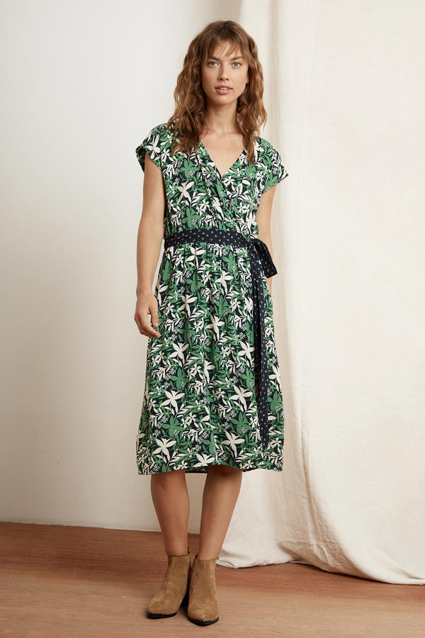 ROMINA PRINTED CHALLIS WRAP DRESS