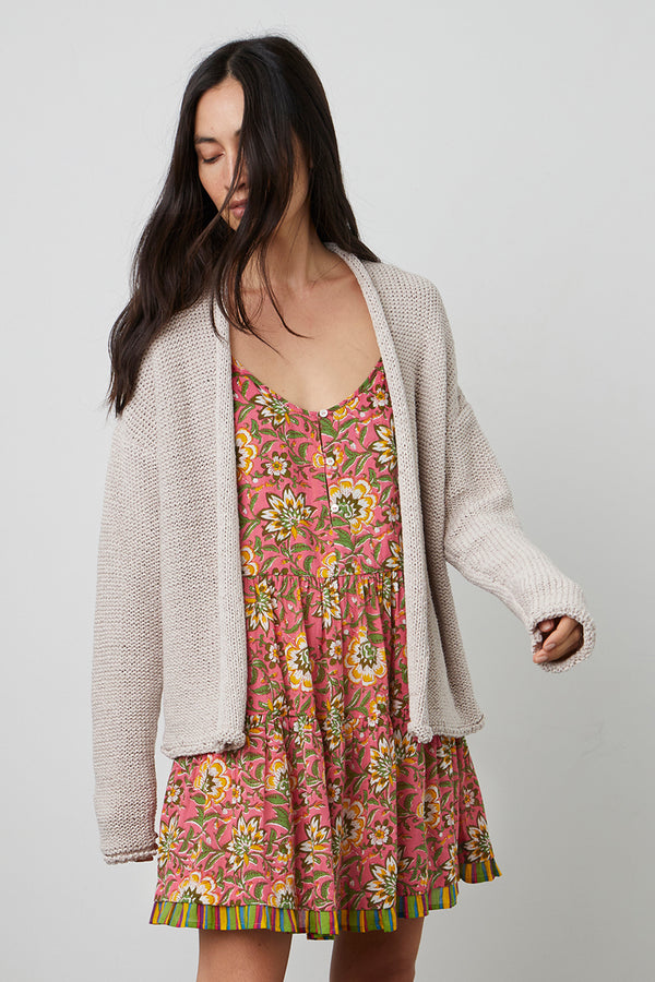 JAZ TEXTURED TAPE YARN CARDIGAN