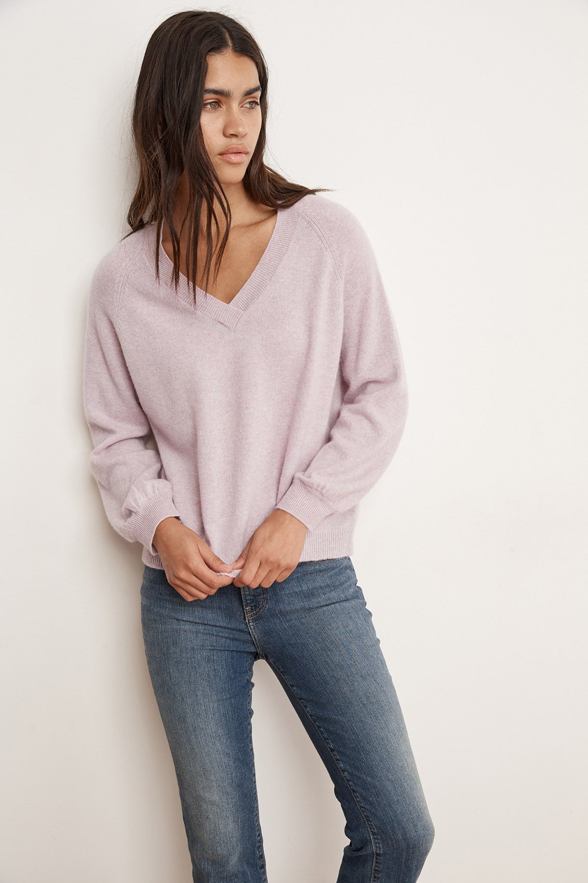 KARAH CASHMERE V-NECK SWEATER