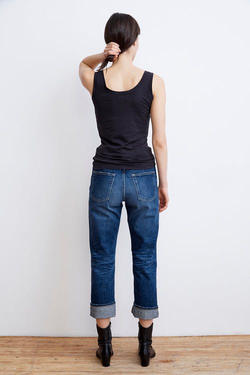 JERRY HIGH RISE STRAIGHT CUFF JEAN