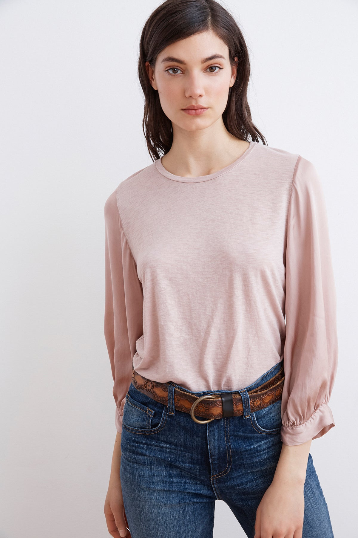 4854cb7a775 DAY LUX SLUB CONTRAST PUFF SLEEVE TEE – Velvet by Graham   Spencer