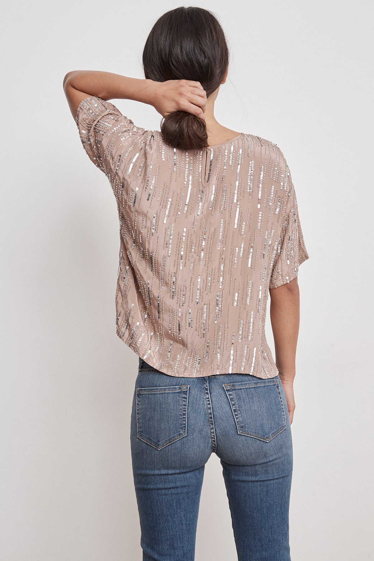 BRIGHTON RAIN DROP SEQUINS TOP