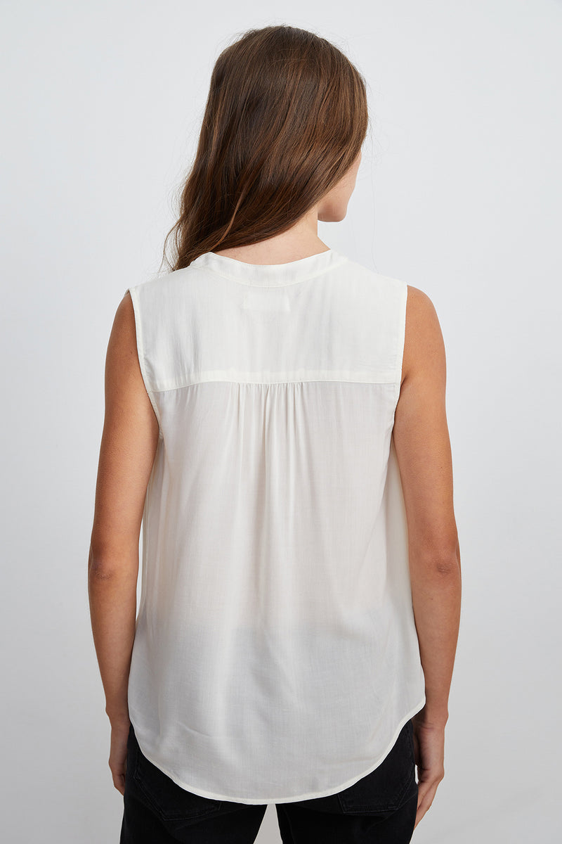 RAVIN SLEEVELESS BLOUSE