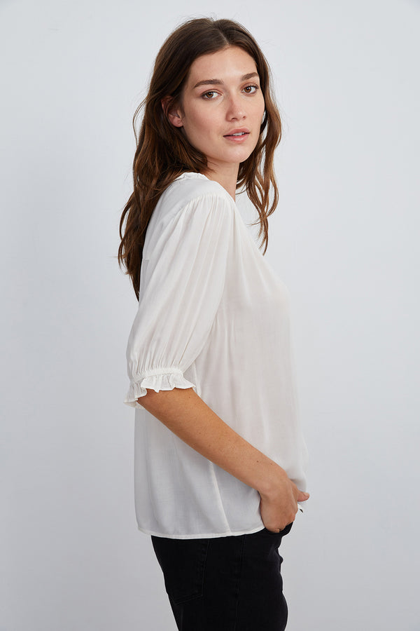 TRIXIE RUFFLED BLOUSE