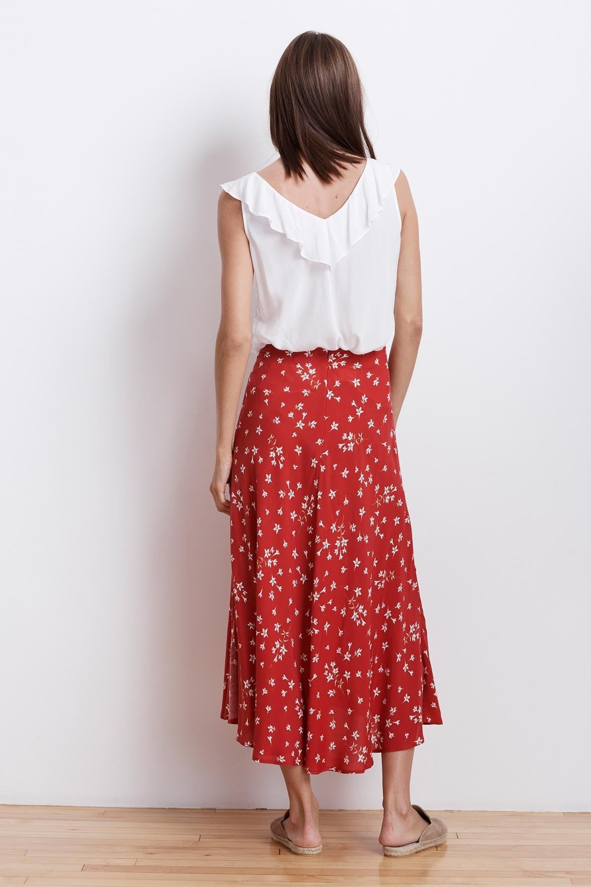 SWAN SPRING FLORAL HGH LOW SKIRT
