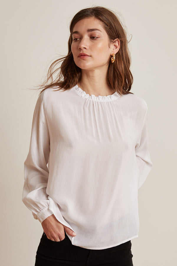 GINGER CHALLIS LONG SLEEVE NECK TIE TOP