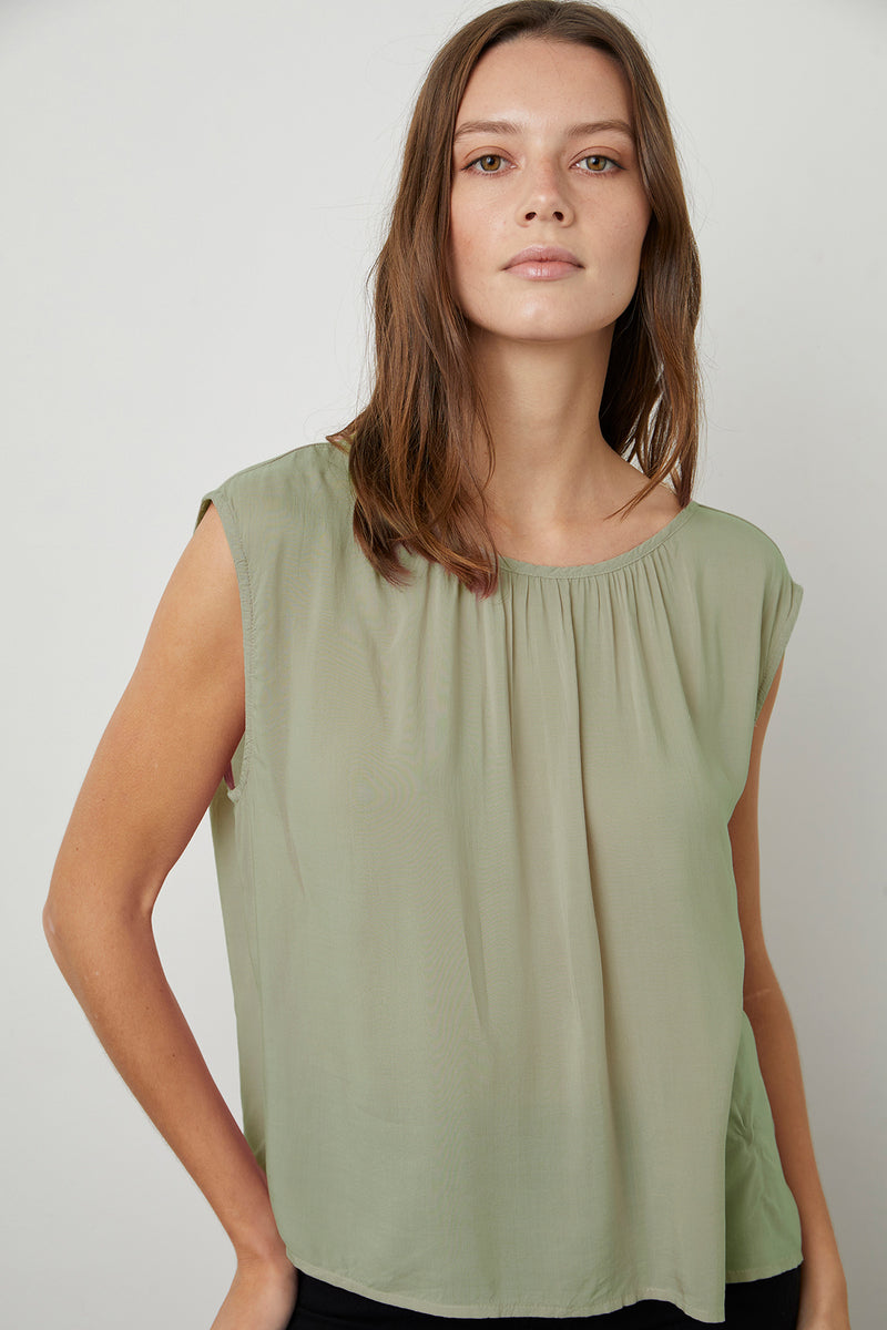 Jade Blouse Branch Front