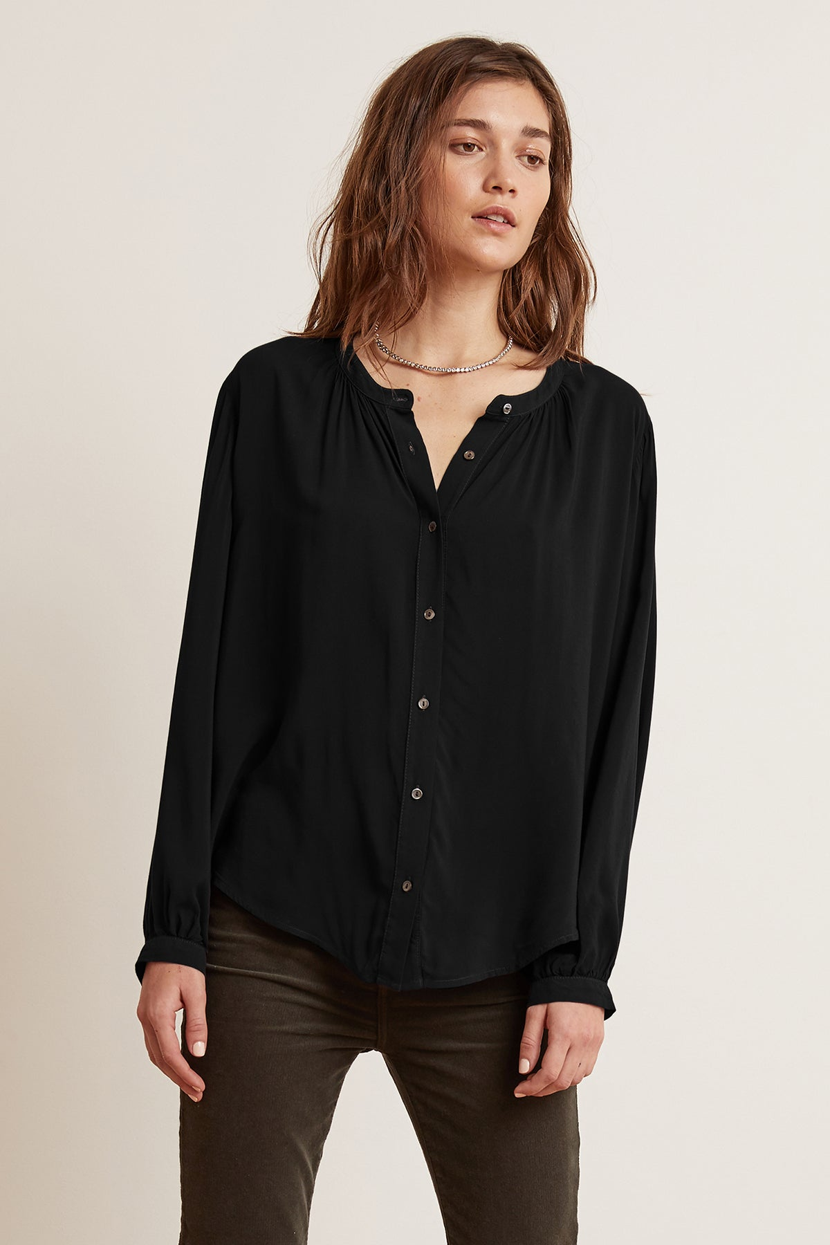 SERAFINA BUTTON-UP BLOUSE