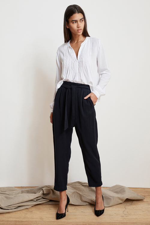 JAMILA TENCEL BELTED PANTS