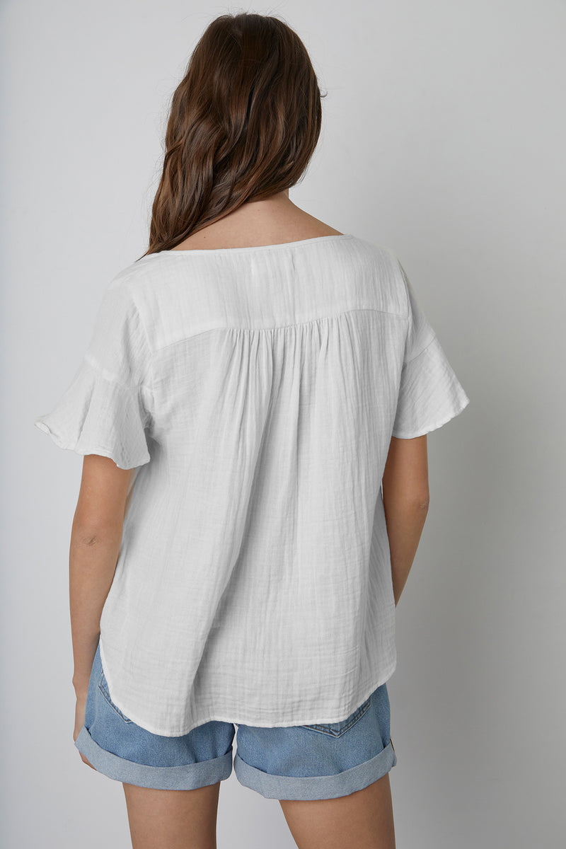 JULIA COTTON GAUZE BLOUSE