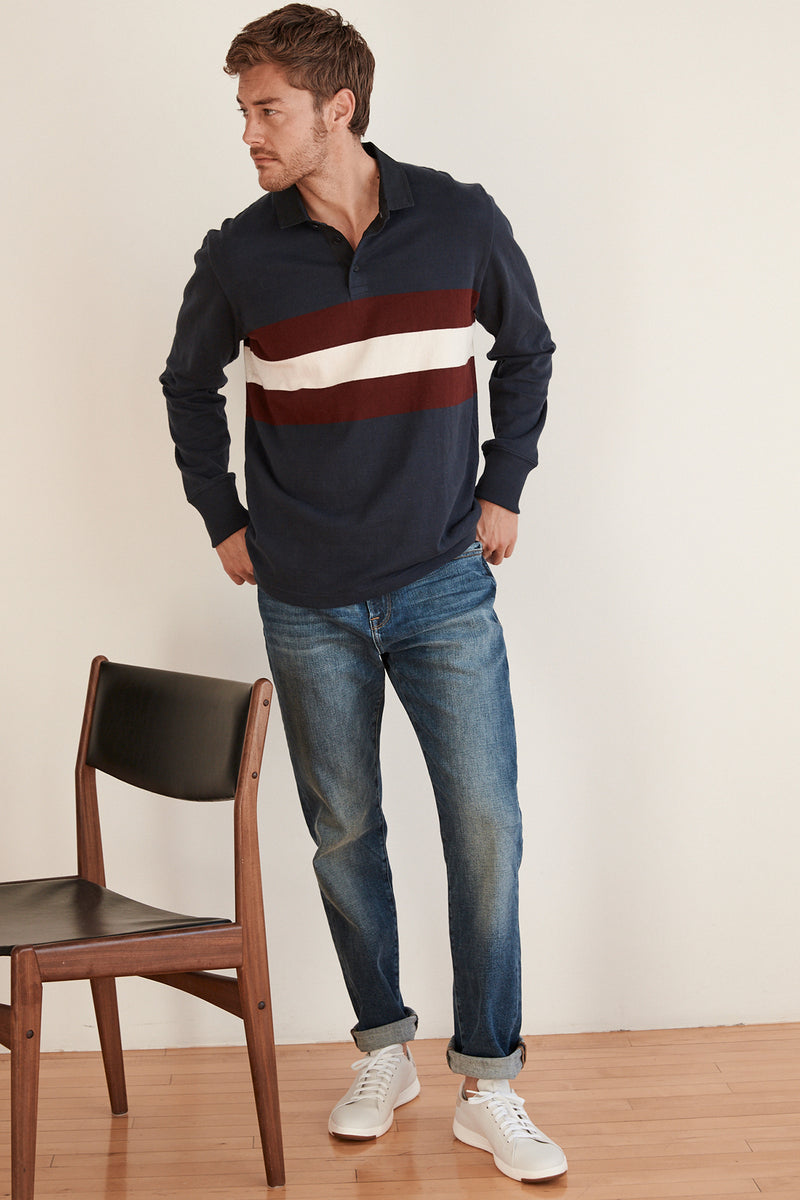 JACQUES RUGBY LONG SLEEVE POLO SHIRT