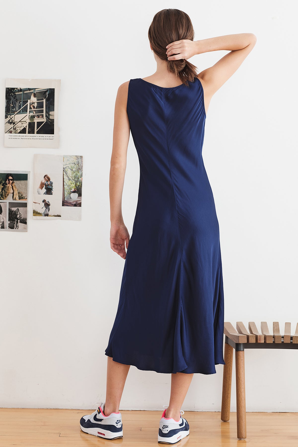 URSULA SATIN VISCOSE TANK DRESS