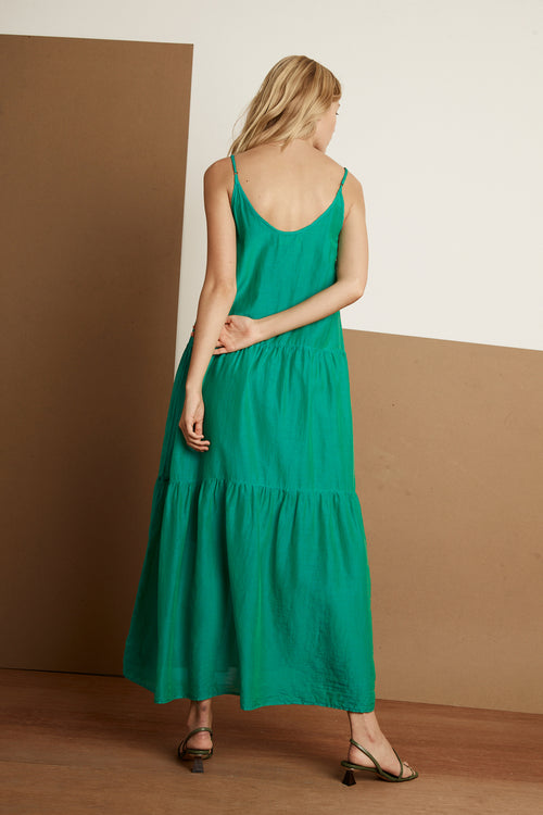 SIMONE SILK COTTON VOILE MAXI DRESS