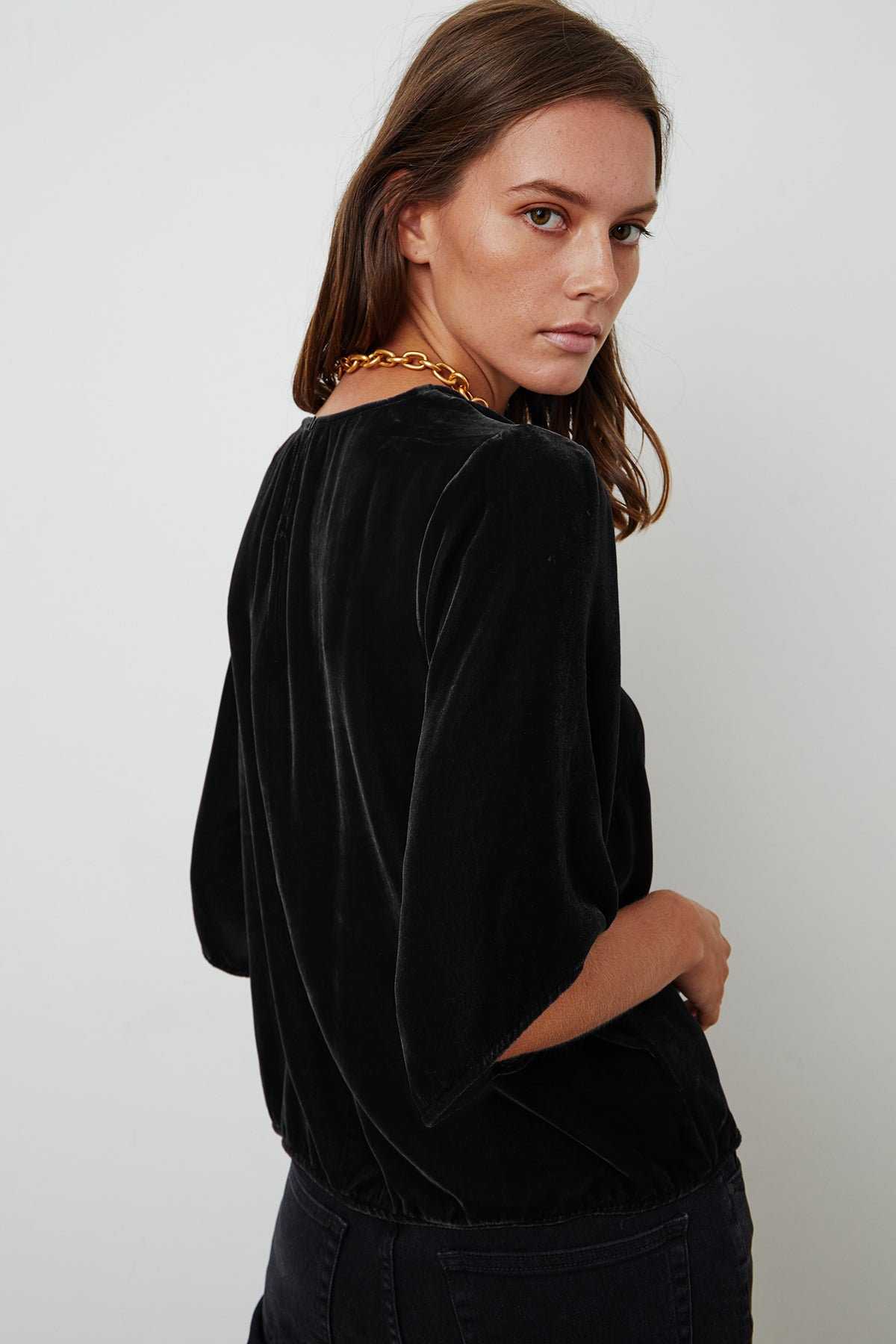 ANDI SILK VELVET TOP