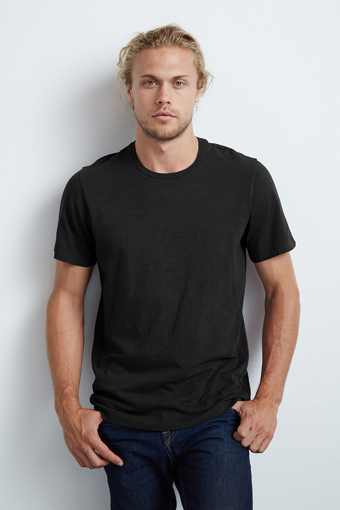 ARDEN COTTON SLUB CREW NECK TEE