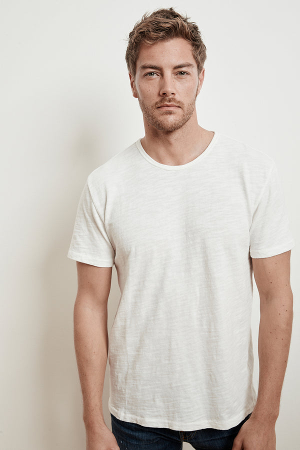 HARVEY SLUB KNIT CREW NECK TEE