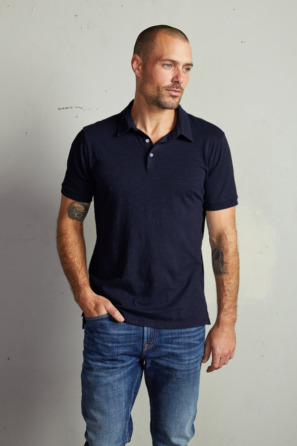 RANDALL COTTON SLUB POLO