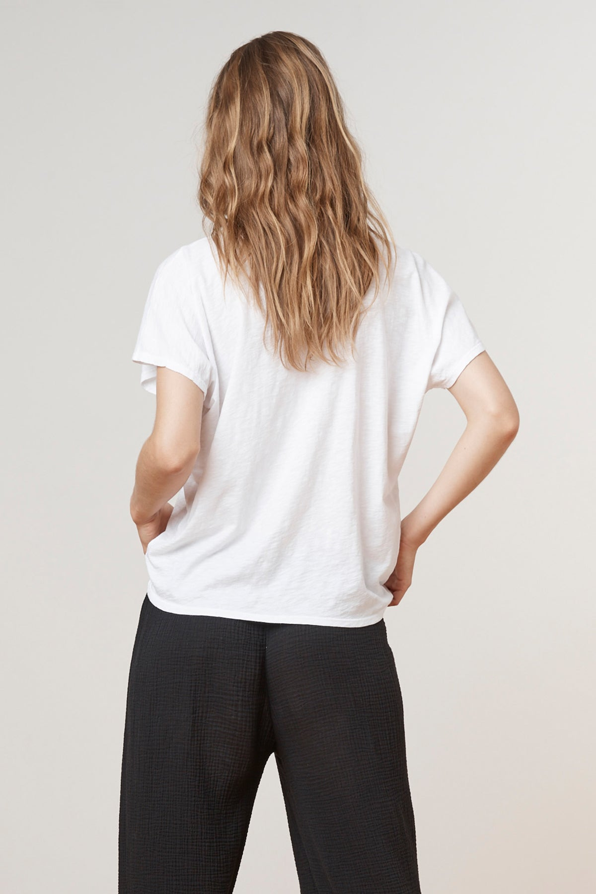KIKI COTTON SLUB CREW TEE