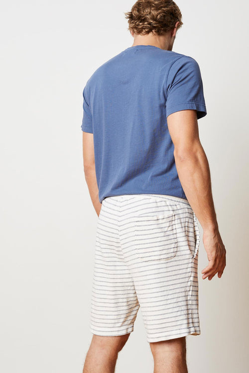 BRAM STRIPE TERRY DRAWSTRING SHORT