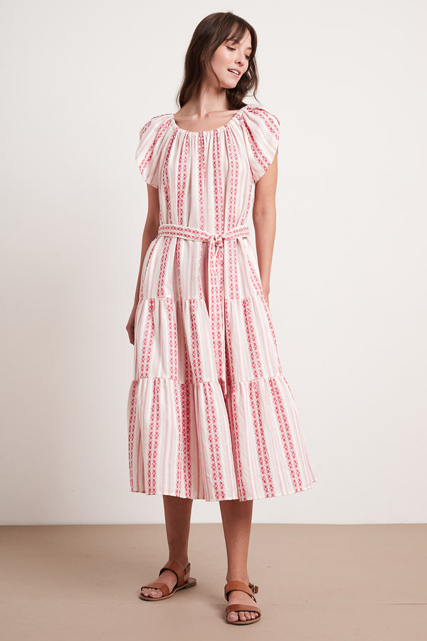 TIAN STRIPE JACQUARD MAXI DRESS