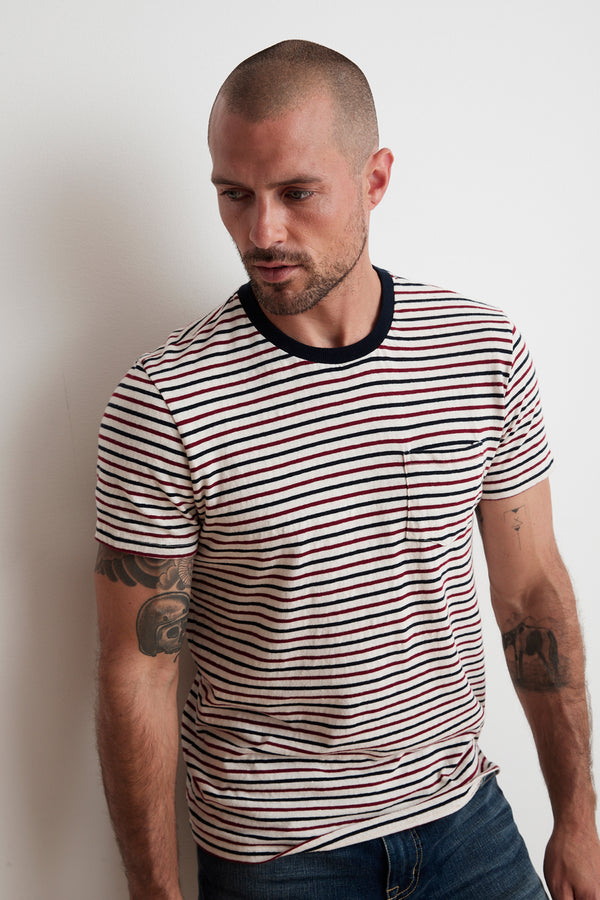ARCHIE STRIPED POCKET TEE