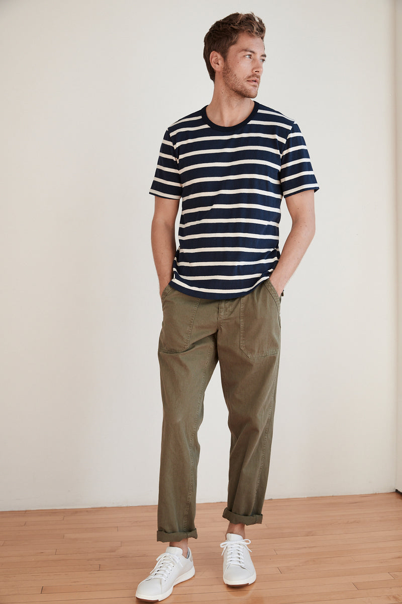 SLY STRIPE LINEN BLEND SHORT SLEEVE TEE