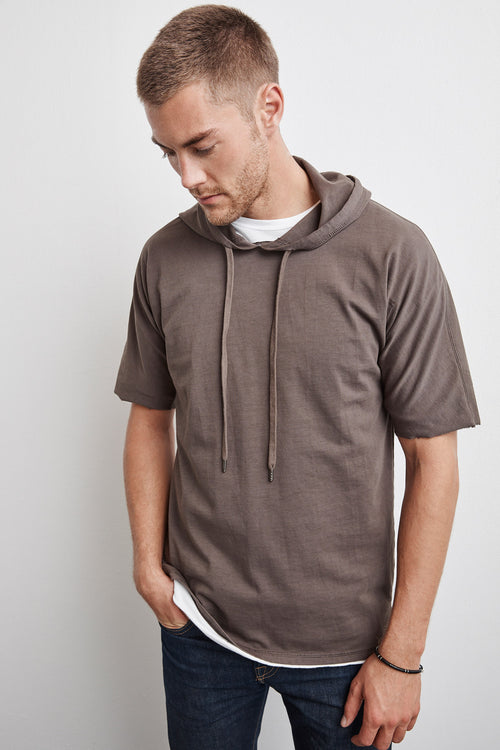 FROST STRUCTURED JERSEY SHORT SLEEVE HOODIE