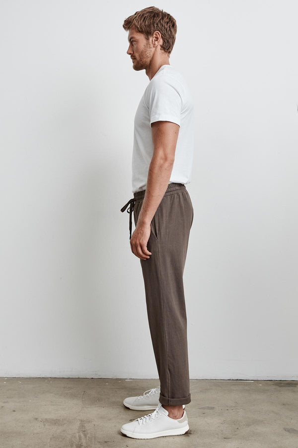 SEWARD STRUCTURED JERSEY DRAWSTRING PANT