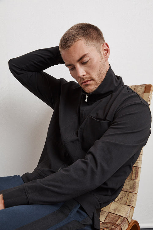STONE STRUCTURED JERSEY TRACK JACKET