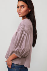 Prudy Top Raisin Side Sleeve Detail