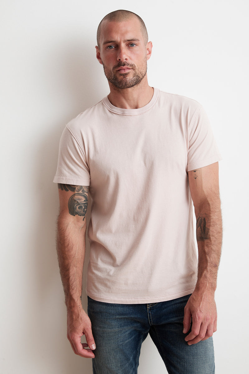 TUCKER SUEDED JERSEY TEE