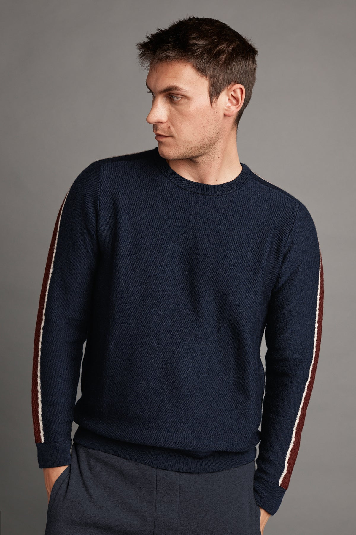 TAD WOOL BLEND STRIPE SWEATER