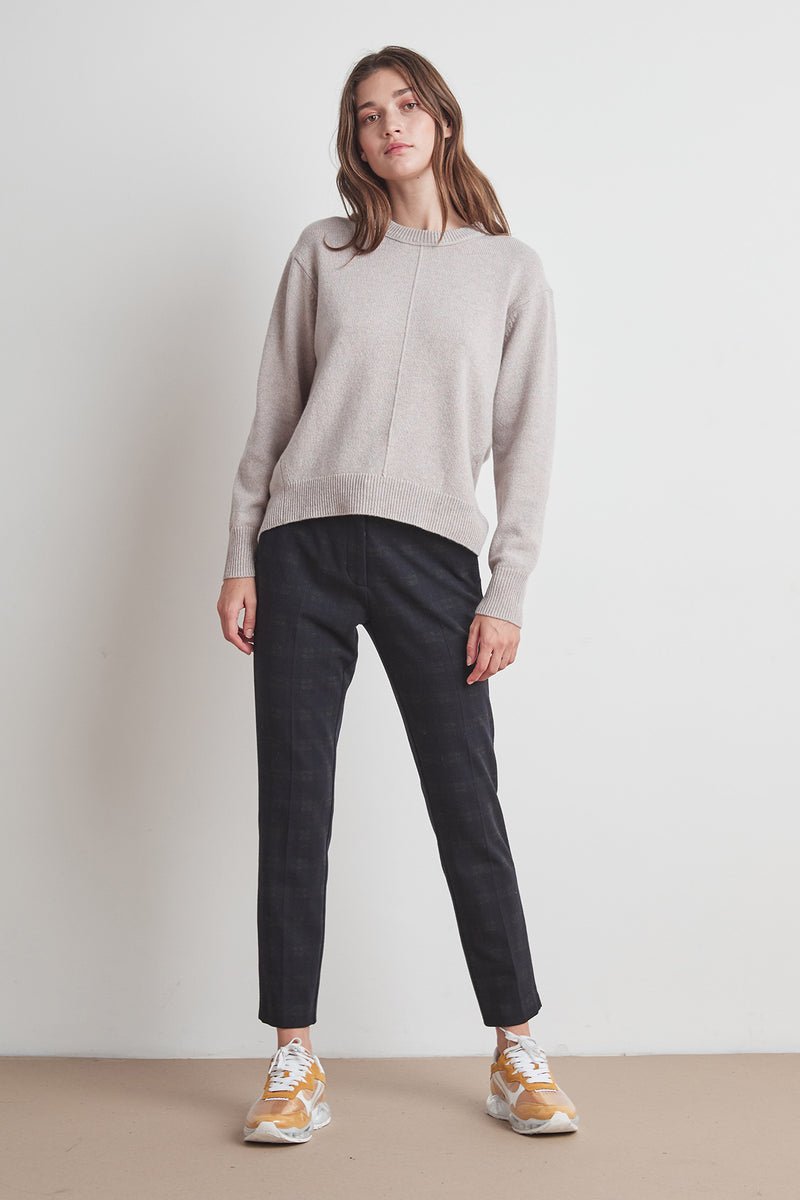CLARISSA WOOL BLEND SPLIT HEM SWEATER