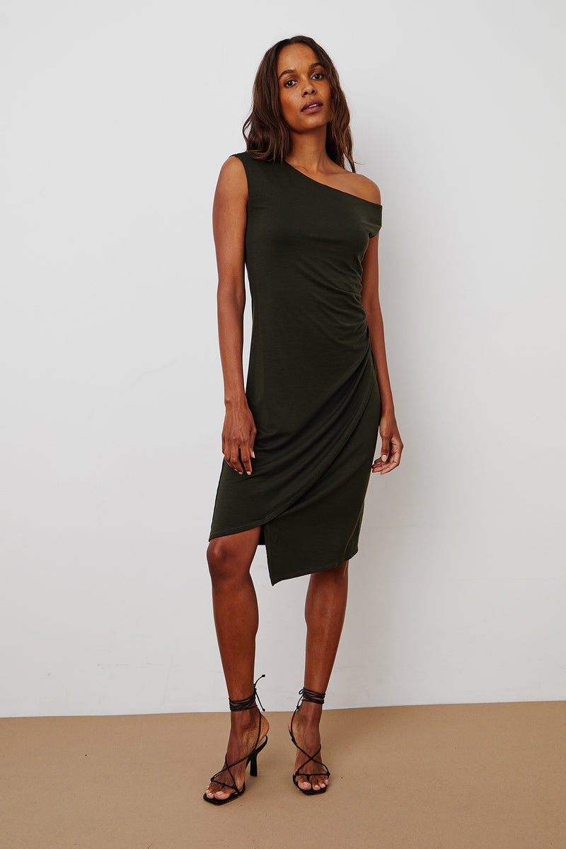 KENNEDY TENCEL ASYMMETRICAL DRESS