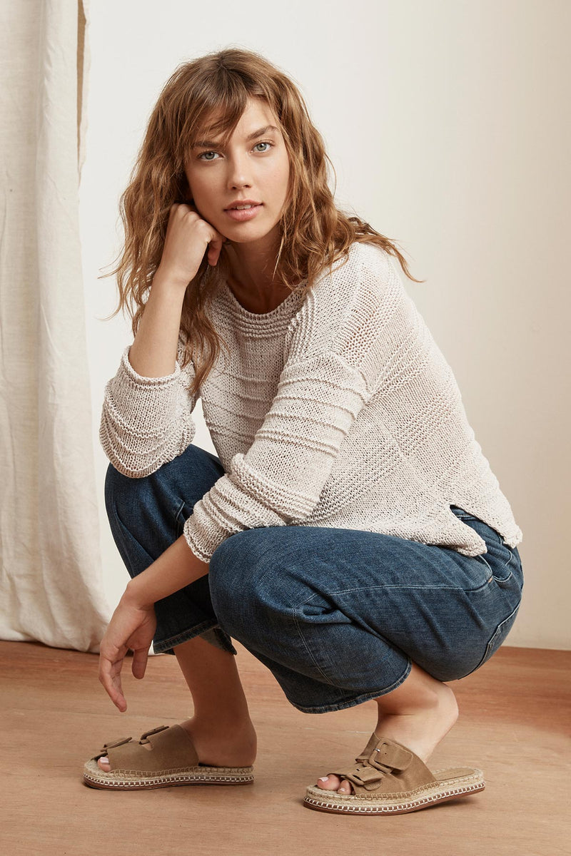 GWEN TEXTURED TAPE YARN SWEATER