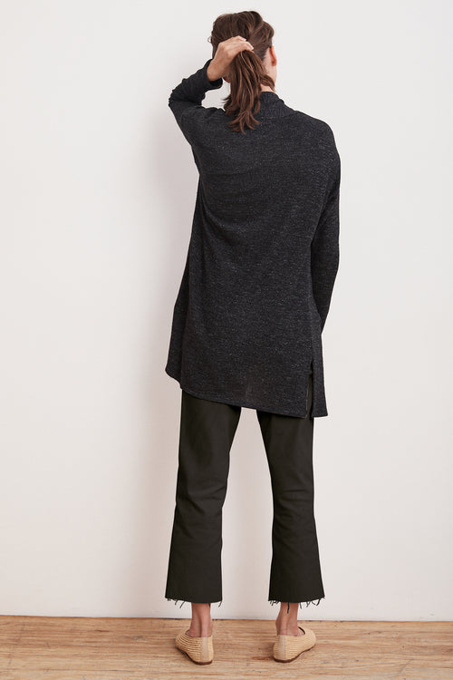 GAMMA TEXTURED COTTON THERMAL DUSTER CARDIGAN