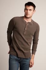 HANSON LONG SLEEVE THERMAL KNIT HENLEY