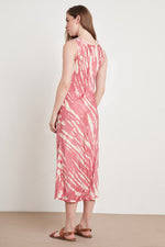 BILLY TIE DYE SATIN DRESS