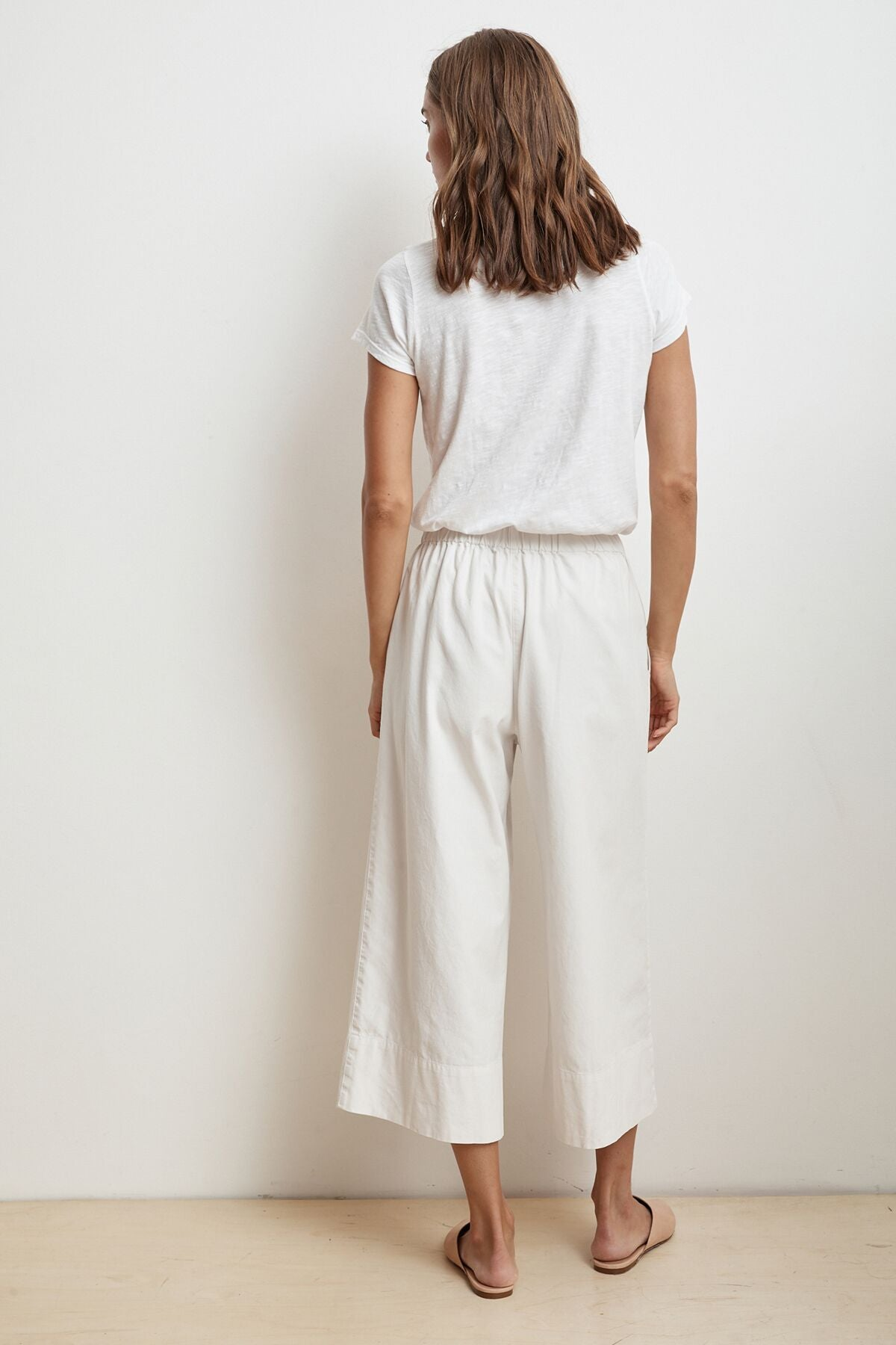 MIRTA COTTON CANVAS WIDE LEG PANT
