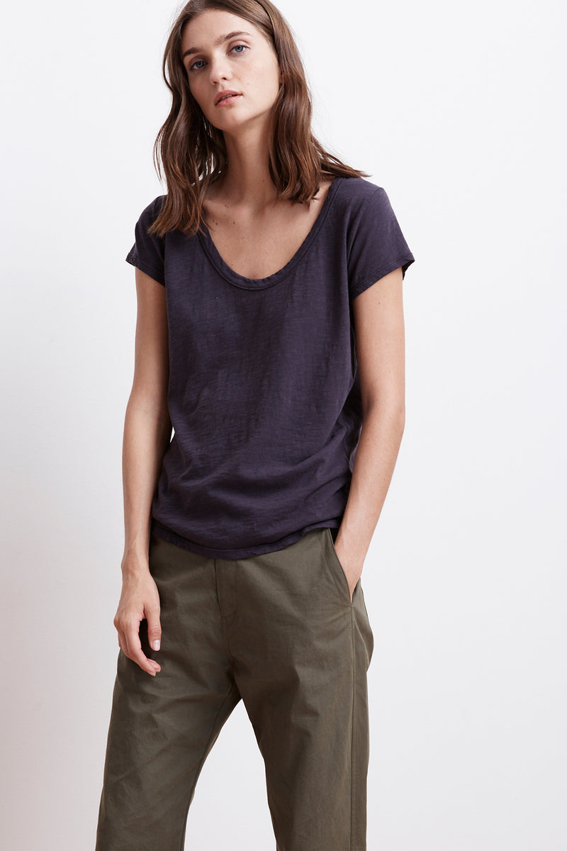 KIRA ORIGINAL SLUB SCOOP NECK TEE