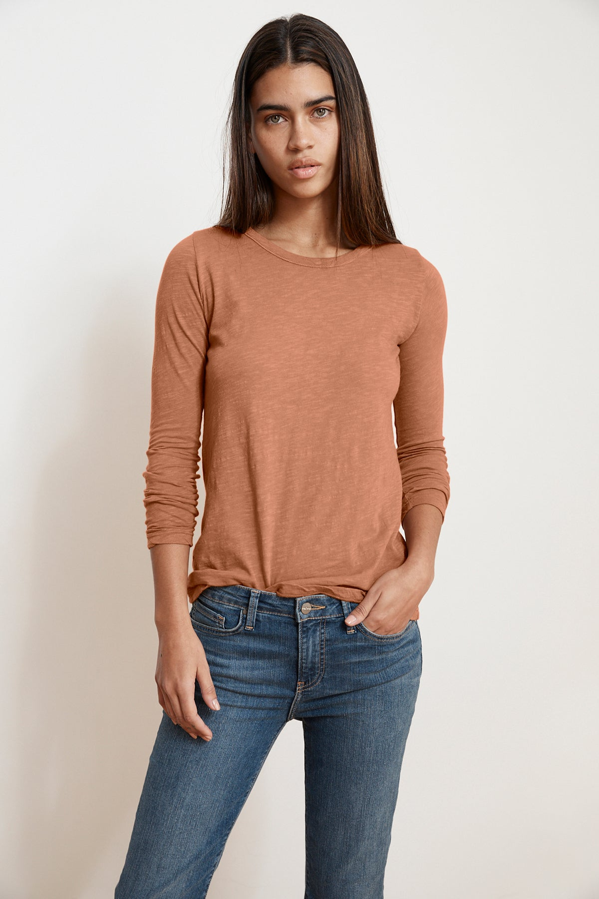 LIZZIE ORIGINAL SLUB LONG SLEEVE TEE