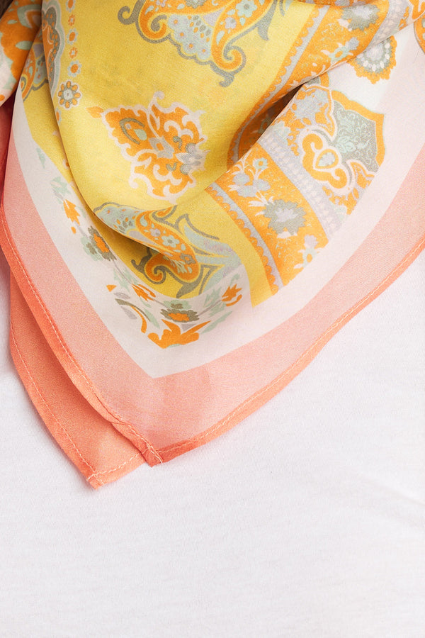 DIAMOND SHAPE SILK SCARF