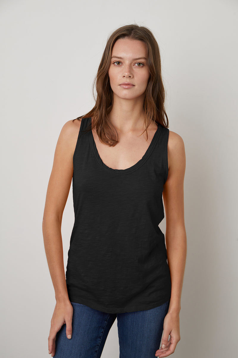 JOY ORIGINAL SLUB SCOOP NECK TANK