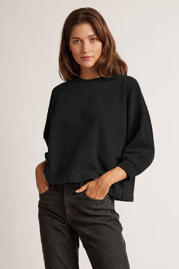 DYLAN VINTAGE FLEECE 3/4 SLEEVE TOP