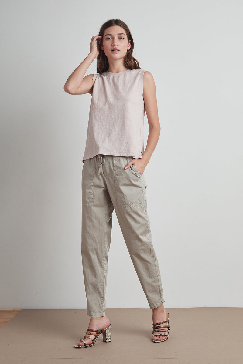 MISTY COTTON TWILL PANT